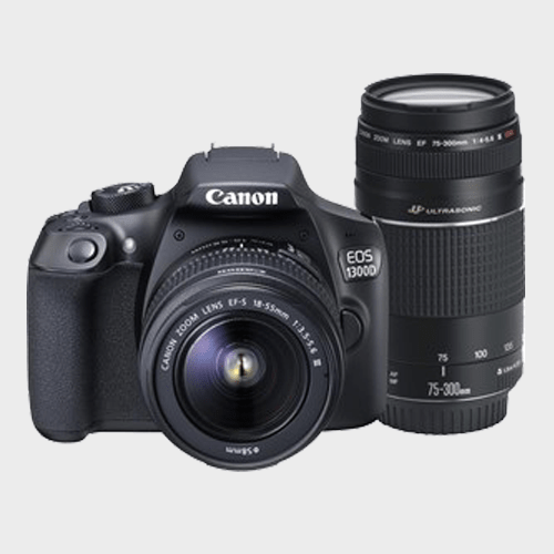 Canon DSLR Camera EOS1300D 18-55mm + 75-300mm Spec and Review