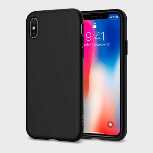 Spigen iPhone X Case Liquid Crystal Matte Black price in Qatar