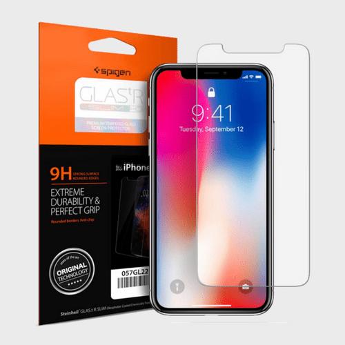 Spigen iPhone X Screen Protector GLAS.tR SLIM HD price in Qatar