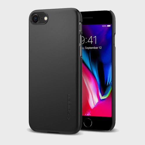 Spigen iPhone 8 Case Thin Fit Black price in Qatar