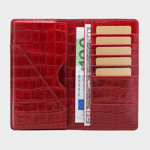 Goldblack Smart Wallet Billion Croco Red price in Qatar souq