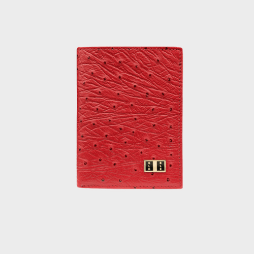 Goldblack Bifold Slim Wallet Ostrich Red price in Qatar