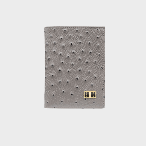 Goldblack Bifold Slim Wallet Ostrich Grey price in Qatar