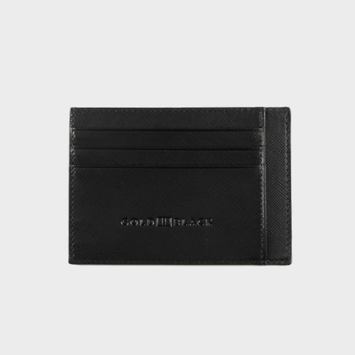 Goldblack Card Holder Bill Saffiano Black price in Qatar
