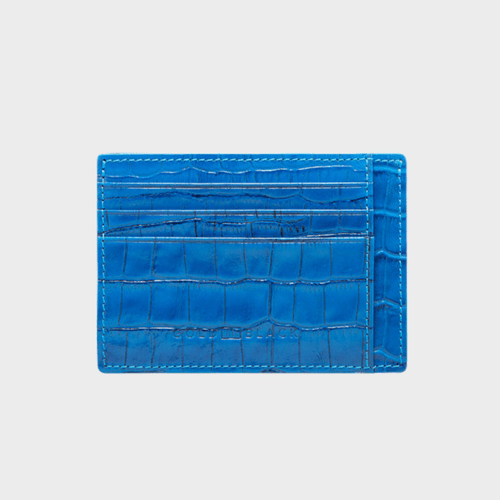 Goldblack Card Holder Bill Croco Ocean Blue price in Qatar