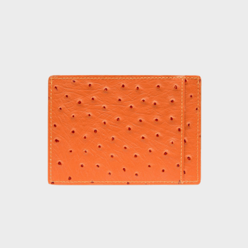 Goldblack Card Holder Bill Ostrich Orange price in Qatar