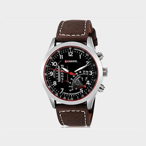 Curren Leather Strap Casual Men's Quartz Analog Watch - 8152 Price in Qatar