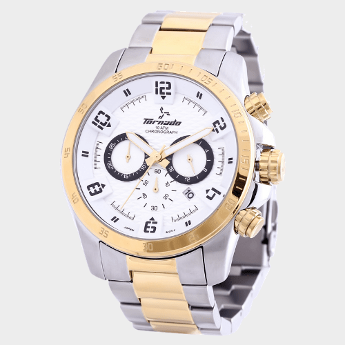 Tornado Men's Chronograph Watch White Dial T3149-TBTWB price in Qatar