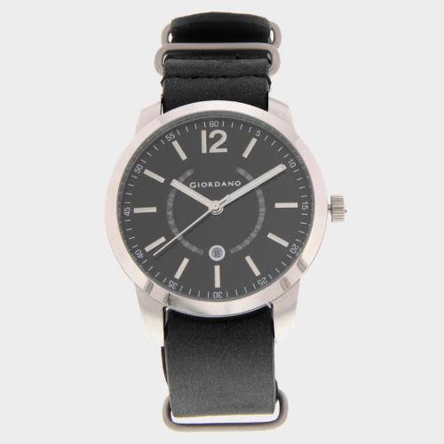Giordano Men's Anlog Black Strap With Black Dial 1791-01 price in Qatar
