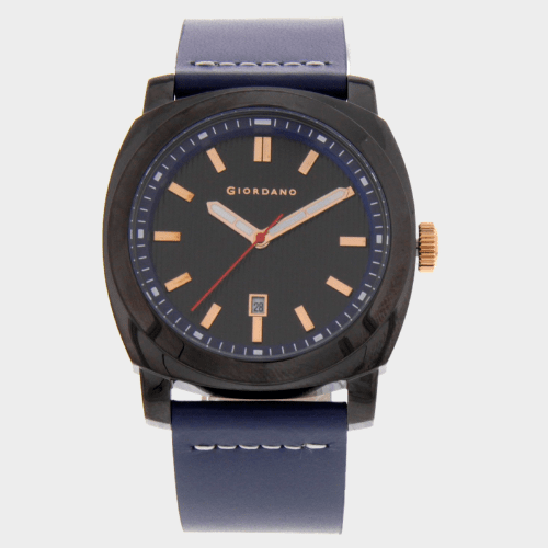 Giordano Men's Analog Watch Blue Strap With Black Dial - 1789-08 price in Qatar