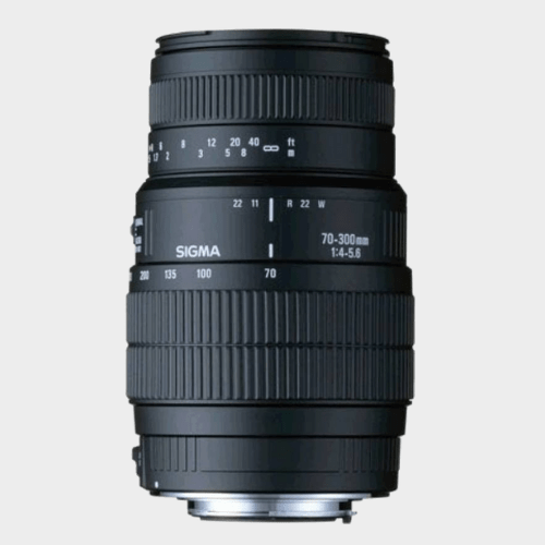 Sigma 70 - 300 mm F4-5.6 DG Macro for Nikon Digital SLR Lens price in Qatar