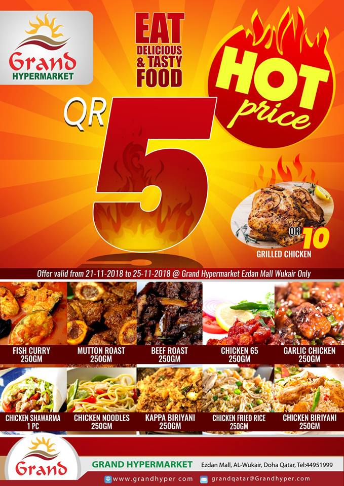 Grand Hypermarket Hot Food Offers in Qatar