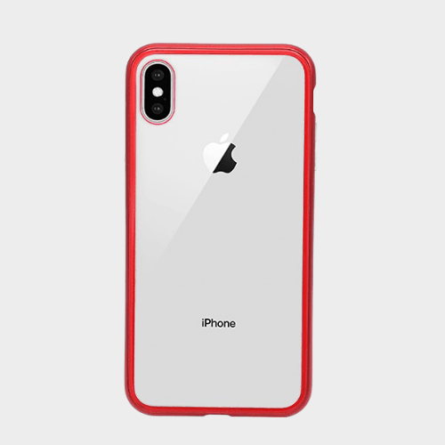 Bluemax Leisurto 360 degree Magnetic Case for Iphone XS Max Red Price in Qatar