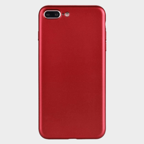 Fashionable Ultra-Thin Soft Red color Silicone Back Case For iPhone 7+ Price in Qatar