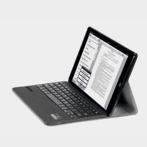 Promate Bare Sleek Leather Case with Detachable Wireless Keyboard for Apple IPad Air Black Price in Qatar