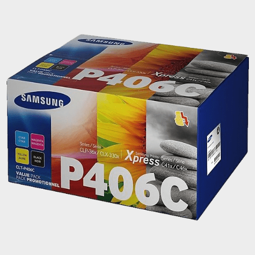 Samsung CLT-P406C 4-Pack Black/Cyan/Magenta/Yellow Toner Cartridges Price in Qatar
