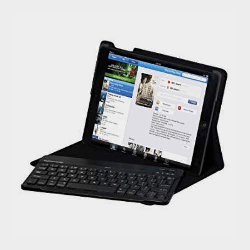 Promate Prof Super Slim Case with Keyboard English For iPad Air Black Price in Qatar