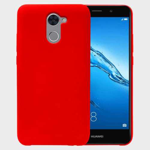 Red Color Silicone Back Case For Y7 Prime Price in Qatar