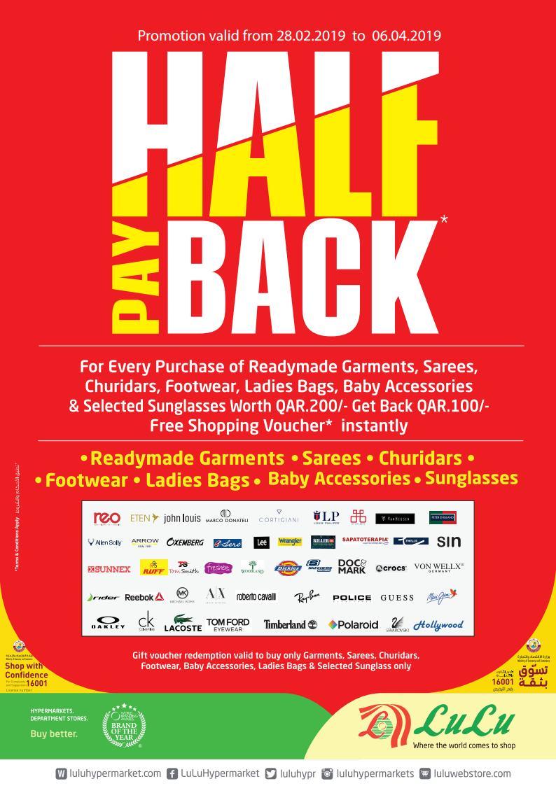 Lulu Half Pay Back Till 06-04