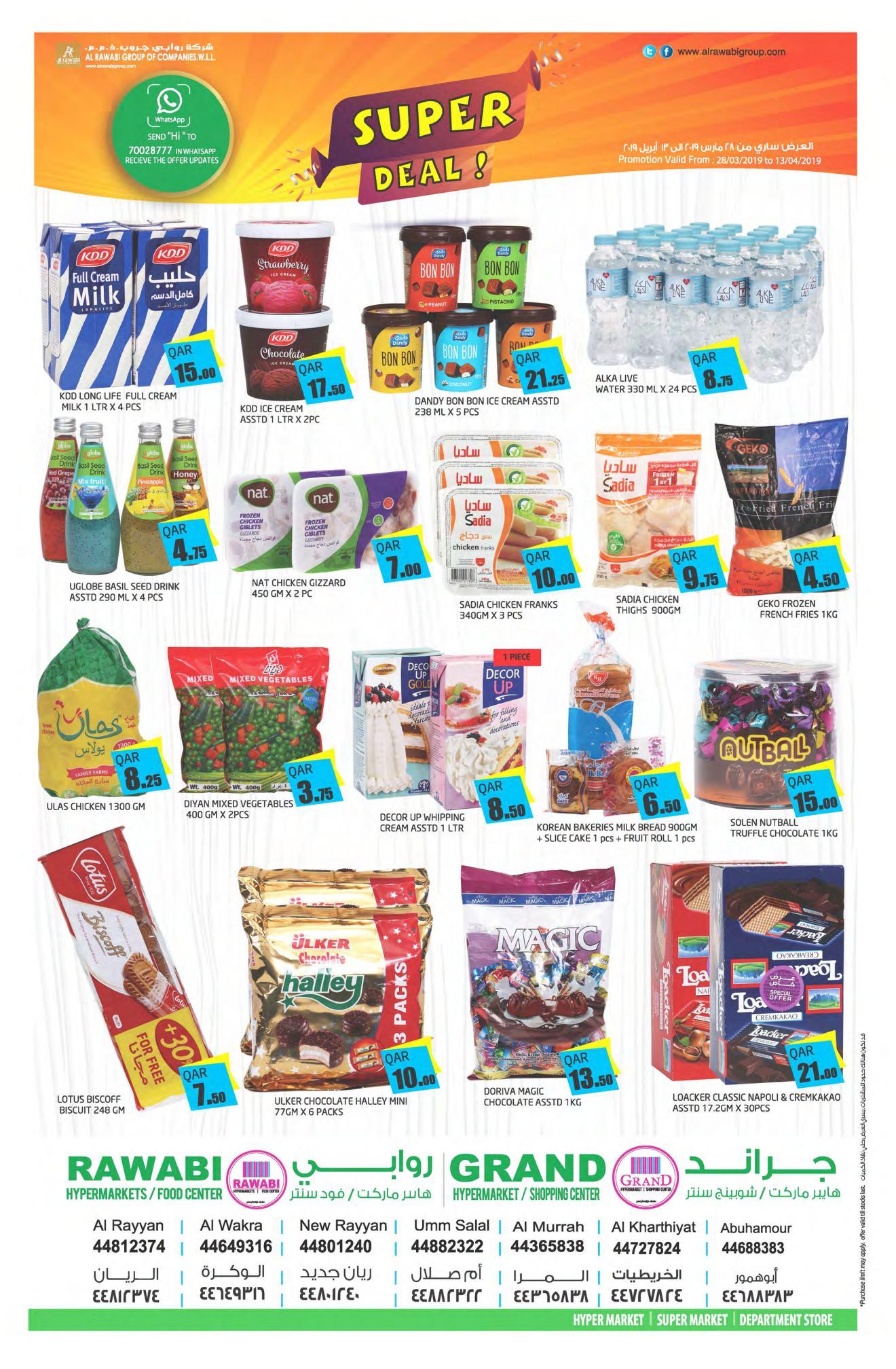 Al Rawabi Super Deal till 13-04